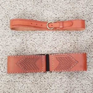 MOTIF 56 and Deena & Ozzy sz S Brown Leather Belts